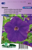 Petunia Alderman, violet-blue